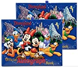 Disneyland Resort Lot de 2 carnets d'autographes officiels Mickey & Gang