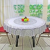 TAO Nappe ronde européenne Bronzing PVC nappes imperméable à l'eau et résistant à l'huile en plastique nappe Hôtel nettoyer la table de couverture (taille: 150cm, 180cm) (Couleur : J-150cm)