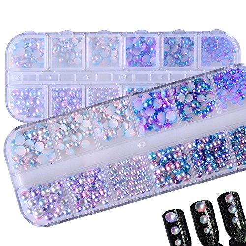 Meicailin 3D Nail Art Dekoration Perle Diamant Rhinestone Kristall Glitzer Nägel Zubehör Nagelkunst Strasssteine