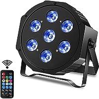 DELIBANG LED Par Bühnenlicht 7 RGBW LED Par Scheinwerfer DMX Disco Lichteffekte mit Fernbedienung für Halloween…