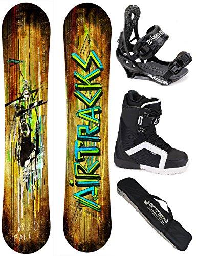 AIRTRACKS SNOWBOARD SET - TAVOLA WILD WIDE 159 - ATTACCHI SAVAGE - SCARPONI STRONG 45 - SACCA /NUOVI - All Mountain Snowboard Attacchi