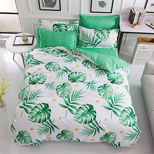 Shamdon 2018Für Pflanzen und Blumen Design, sehr weiches Stoff Bettbezug Set, Bettwäsche, Bettbezug, Kissenbezüge, Design 6, 220x240 cm(4 PCS)- for 1.8/2M bed