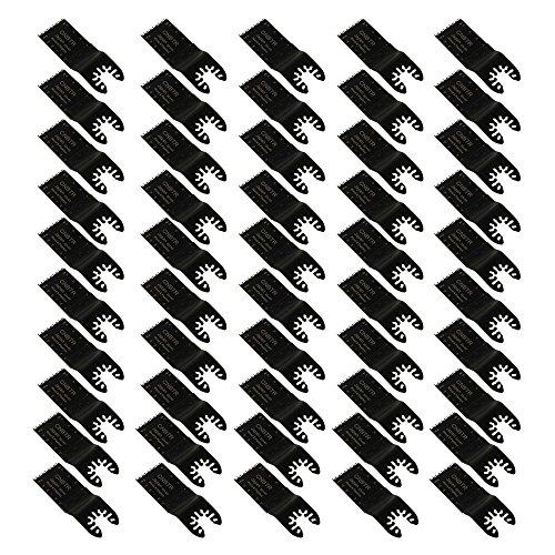 cnbtr 32x 40mm schwarz kohlenstoffreicher Stahl Japan Zahn Form Quick Release oszillierendes Sägeblatt Multi Tools Set 50Stück