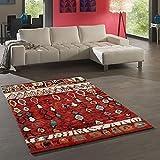 Tapis Chambre Berber Morocco Rouge 80 x 150 cm Tapis de Salon Moderne Design