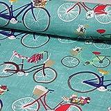 Baumwollstoff in 160 cm Breite: Fahrradliebe!