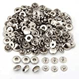 #4: Generic 50 Set Metal No Sewing Press Studs Buttons Snap Fastener Popper 10mm