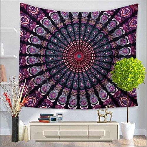 COCOL Tapicería/Estilo Simple Mandala Serie hogar tapicería/Pared / Toalla de Playa/Alfombra / Fibra de poliéster (Color : D, tamaño : 150 * 200cm)