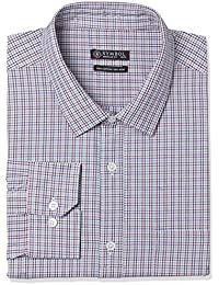 Symbol Amazon Brand Men's Checkered Regular Fit Business Shirts