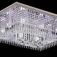Lampada ZJJ minimalista moderno rettangolare della lampada di cristallo Soggiorno Led da incasso