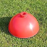 Kombi-Rundfuß für Slalomparcours, in 3 Farben, für Agility - Hundetraining (rot)
