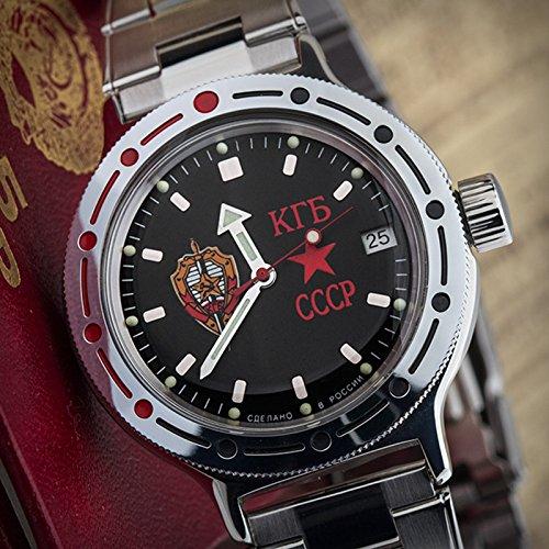Vostok anfibio militare russo orologio subacqueo KGB Ussr Cccp 2416/420457
