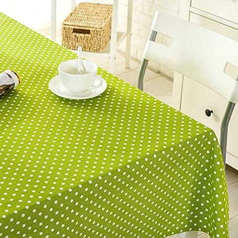 Grünen Tisch Leinen Stoff Tischdecke Stoff canvas Baumwolle Matte, die