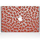 Die Aufkleber Guru 2049-mac-11a-p Hahnentritt Aufkleber Vinyl Aufkleber, 27,9cm MacBook Air, Orange