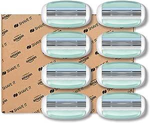 Shave It - Testine 3 lame per rasoio da donna, confezione da 8