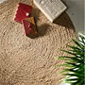 Fair Trade Round 100% Braided Jute Rug - inexpensive UK light shop.