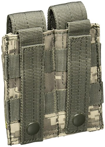 Voodoo Tactical MOLLE Compatible Double Pistol Magazine Pouch - ACU Digital Camo