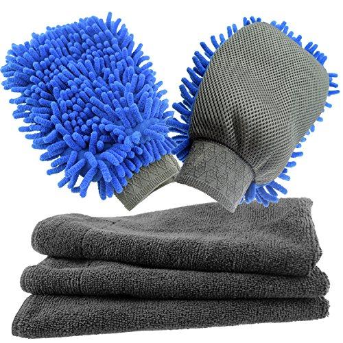 Curalit Fensterreinigung im 2er Set Handschuh & Trockentuch Profi 45 x 60 cm aus Mikrofaser