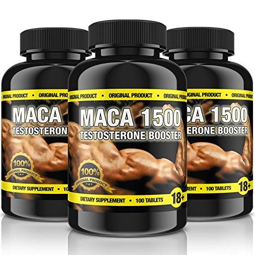 Original MACA-1500 (Maca-Wurzel) | 100 Tabletten für 33 Tage | Vegan | Muskelaufbau, Vitalität, Wohlbefinden, Testosteron & Hormonelle Balance | Premium Qualität