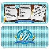 Einladungskarten zur Feier, Party, Fest Oktoberfest bayrisch Geburtstag Hüttengaudi Einladung Weißwurstfrühstück Bierkrug Bier Brezel