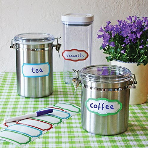 Wallies Peel and Stick Dry Erase Coloured Labels