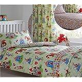 Kidz Club-Juego de funda nórdica para cama infantil de caballeros y dragones Medieval temática de edredón y funda de almohada, color verde