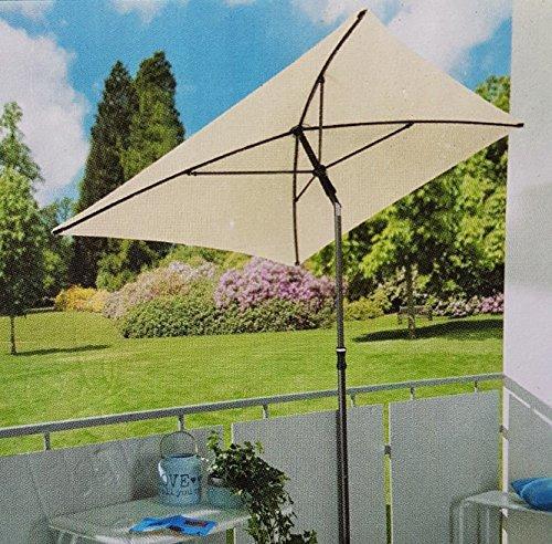 Sonnenschirm 210x140 Gartenschirm Terrassenschirm UV Schutz creme GARDENLINE