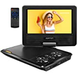 APEMAN Portable DVD Player, 7.5'' DVDs Player for Kids/Elder, 5 Hrs Rechargeable Battery for Home/Hospital/Car Trip…