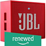 (Renewed) JBL GO Portable Wireless Bluetooth Speaker with Mic (Red)