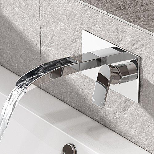 Wall Mounted Waterfall Bathroom Taps Amazon Co Uk