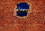 Fototapete Köln bei Nacht - Roter Backstein XL 350 x 245 cm - 7 Teile Vlies Tapete Wandtapete - Moderne Vliestapete - Wandbilder - Design Wanddeko - Wand Dekoration wandmotiv24