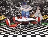 wendland-moebel.de Hausmarke Bistrogruppe American Diner Paul King I 5tlg in Rot Weiß