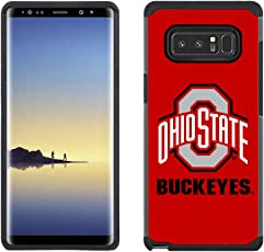 Prime Brands Group Textured Team Color Cell Phone Case for Samsung Galaxy Note 8 - NCAA Licensed Ohio State University Buckeyes
