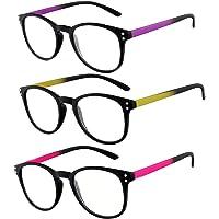 Rainbow safety Gli Occhiali Presbiopia per Lettura Uomini Donne Telaio Ultraleggeri Miami RRC 3 Paia +1.00D