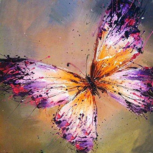 Nicht Klebrig Kostüm - Chenway 5D Diamant Gemälde Kit Schmetterling Muster Serie Punktbohrung Strass Gemälde Zubehör DIY Erwachsene nach Zahlen Leinwand Ölgemälde Wandaufkleber, 25 x 25 cm Art Deco 25x25cm a