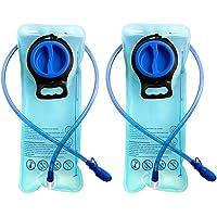 CSDSTORE Trinkblase, 2er-Pack, 2 Liter, Fahrrad-Trinksystem aus thermoplastischem Urethan, für Sport, Wandern, Camping, Klettern, blau