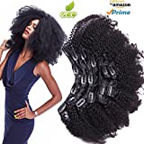 Morningsilkwig Afro Kinky Curly Clip In Human Hair Extensions Clip Haarspange ins 120 g