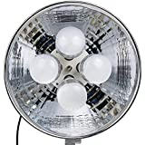 Dörr 373472Durée DL de lumière 400avec 4x 25W ampoule led (16pouces réflecteur, diamètre Env. 41cm, température de couleur: 5500K) Noir