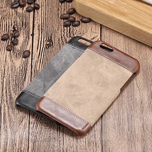 JIALUN-Telefon Fall iPhone 6 6S Cover, Mode Mix und Match Farbe Case Cover, Cowboys Jeans Muster Hard Cover für Apple iPhone 6 6S ( Color : Brown , Size : IPhone 6 6s ) Black