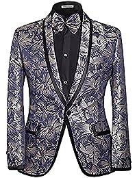 Slim Fit Interfaz Hombre Chaqueta Paisley Diseño Smoking, bodas y fiestas