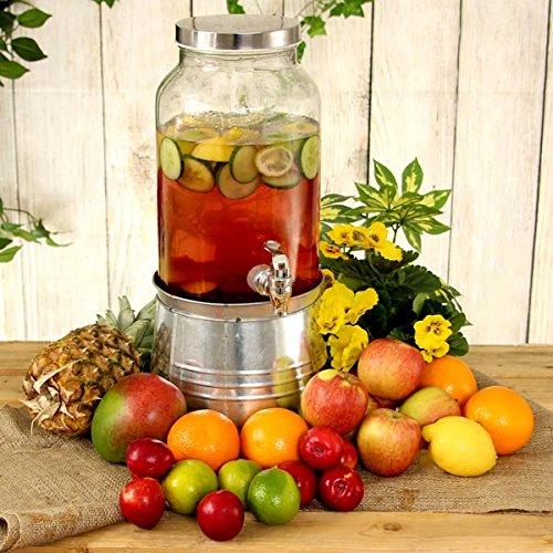 Mason Jar Bebidas Dispensador con cubo de hielo soporte 176 oz / 5ltr - Vino y Champan Bucket Soporte | bar@drinkstuff Mason Jar Bebidas Dispensador, dispensador de jugo, Dispensador de cóctel