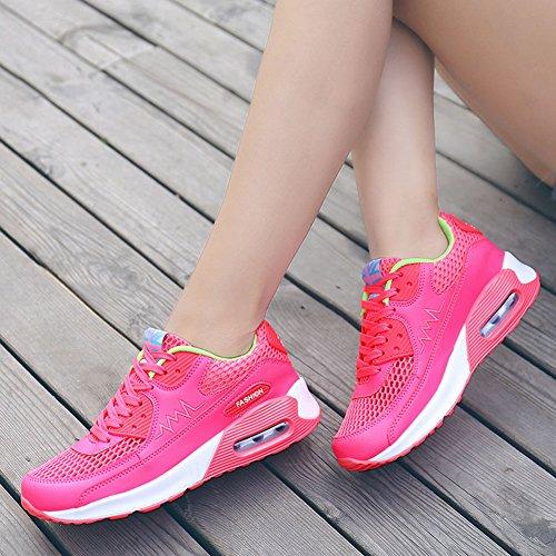 Rosa Lazer Sapatos Sapatos Verde Esportes Wealsex De Tênis Femininos xwARBPqnO