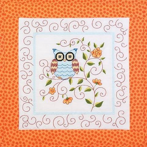 Owl Quilt Blocks Stamped Cross Stitch-15