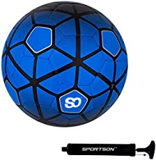 Sportson Football-Club PVC Football with Football-Pump and Inflating Needle (Blue)