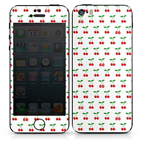 Apple iPhone 4 Case Skin Sticker aus Vinyl-Folie Aufkleber Kirschen Rockabilly Früchte DesignSkins® glänzend