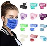 TEGT 50 stuks wegwerp-mondbescherming, uniseks, gezichtsbescherming, neusbescherming, zijde, ademend, antibacterieel, zonweri