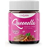 GymQueen Queenella - Protein Aufstrich/Nuss-Nougat Creme ohne Zuckerzusatz mit Süßungsmitteln | Feinste Haselnusscreme als Brotaufstrich – Haselnuss (250g)