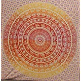 Nueva Naranja Rojo elefante Ombre Mandala Tapices, pesada tela de algodón, Psychedelic Tapiz, Playa lanzar, India Tapiz de cama