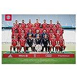 Poster Teamposter FC Bayern München + gratis Aufkleber, Spielerportrait FCB