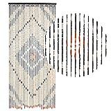 HAB & GUT (DV0151) cortina para puertas Diseño: madera, Color: MARRÒN, Material: madera, Tamaño: 90 x 200 cm