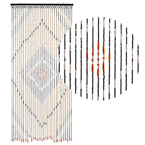 HAB & GUT DV0151 Türvorhang Form: Holz, Farbe: BRAUN, Material: Holz, Größe: 90 x 200 cm